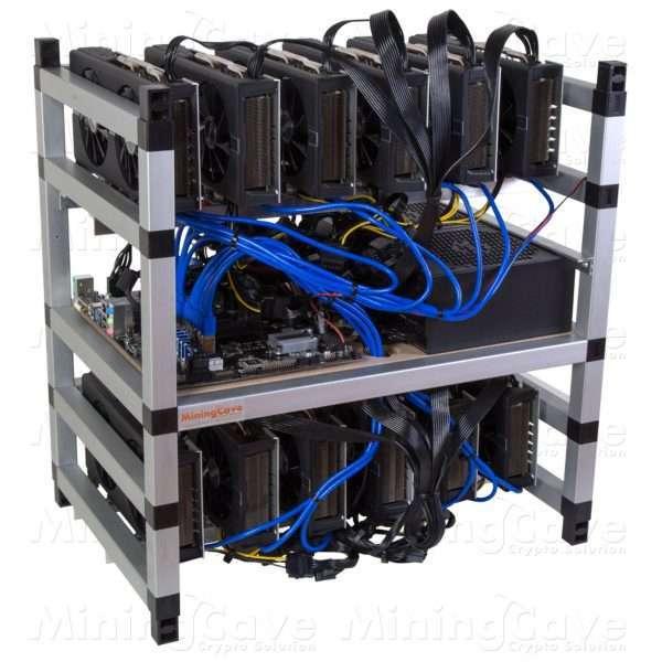 RIG 12 GPU - P104-100 4GB - 2 POWER SUPPLY