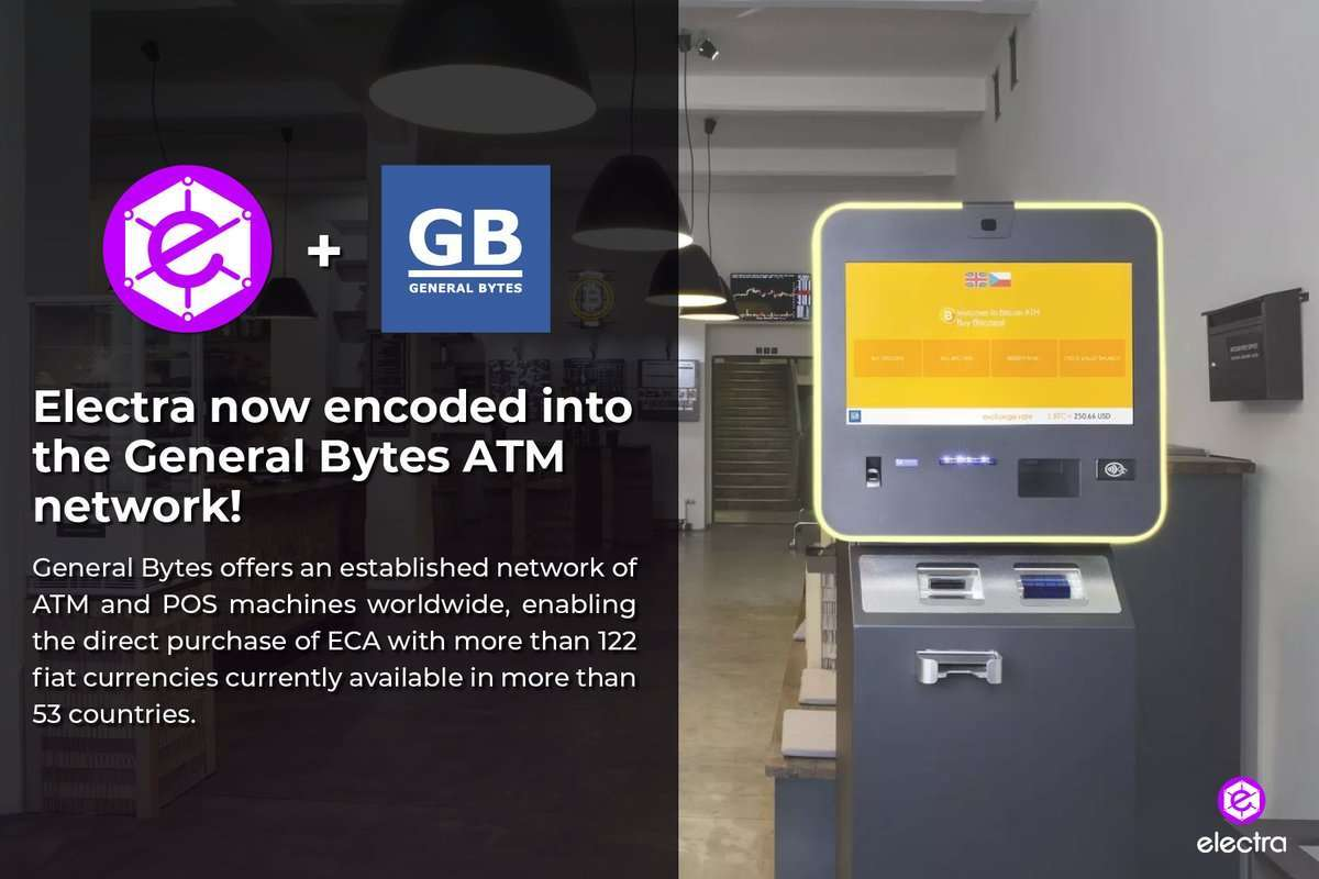 Electra added to General Bytes ATMs